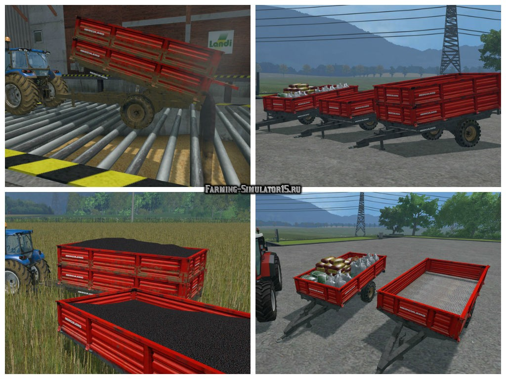 Мод ПАК прицепов Herculano Trailers Pack v 3.0 Farming Simulator 15