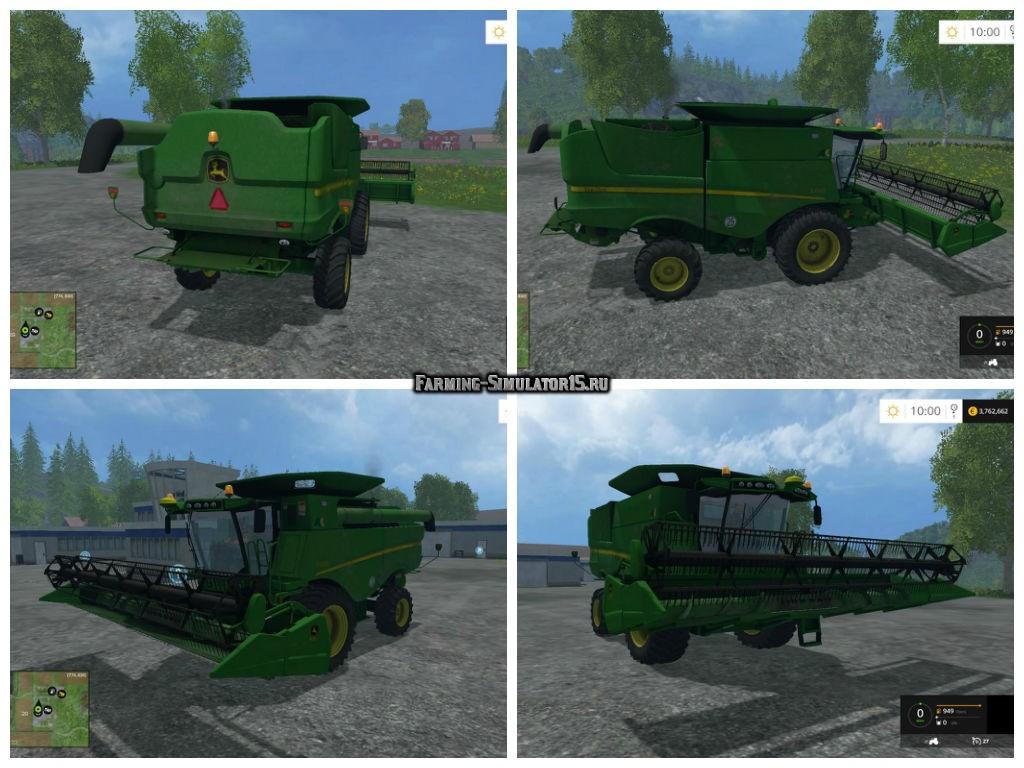 Мод комбайн JOHN DEERE S660 V1.0 Farming Simulator 15