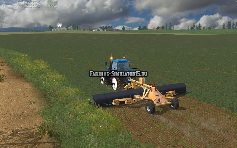 Мод валковая жатка Lindbejb Oxbo 334 Merger v 1.0.0.0 Farming Simulator 15