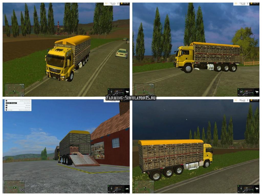 Мод грузовик Man Ganaderia v 1.0 Farming Simulator 2015