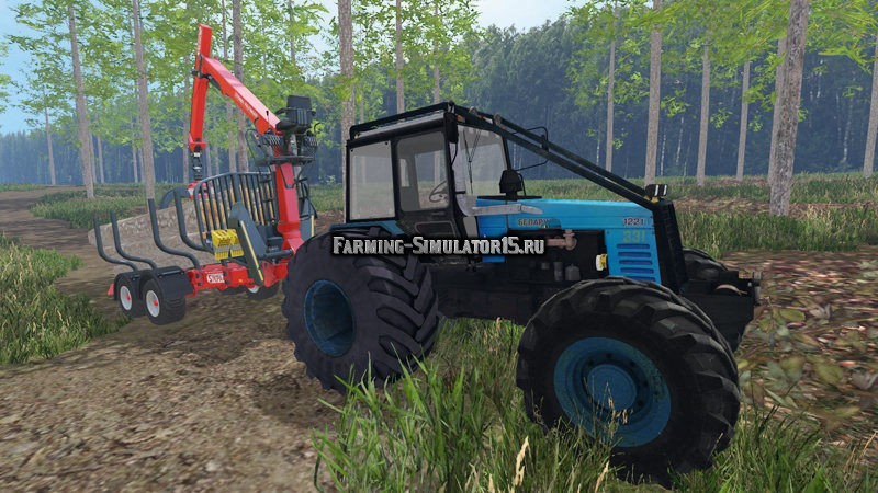 Мод трактор МТЗ Беларус MTZ 1221 Forest Фермер Симулятор 2015
