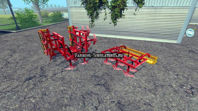 Мод ПАК культиваторов Poettinger Cultivators v 1.1 Farming Simulator 2015