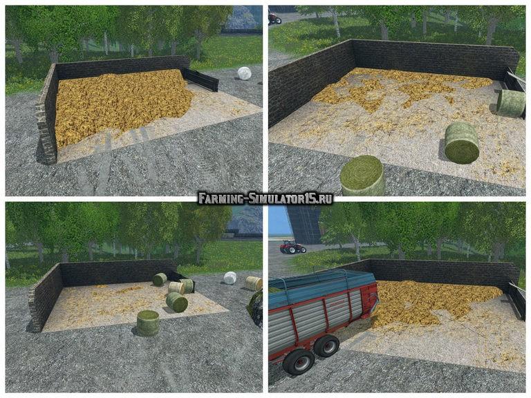 Мод хранилище навоза Manure Heap v 1.0 Placeable Farming Simulator 2015