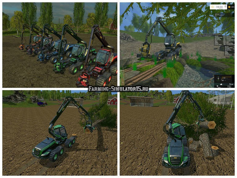 Мод Ponsse Scorpion v 1.2 Farming Simulator 2015