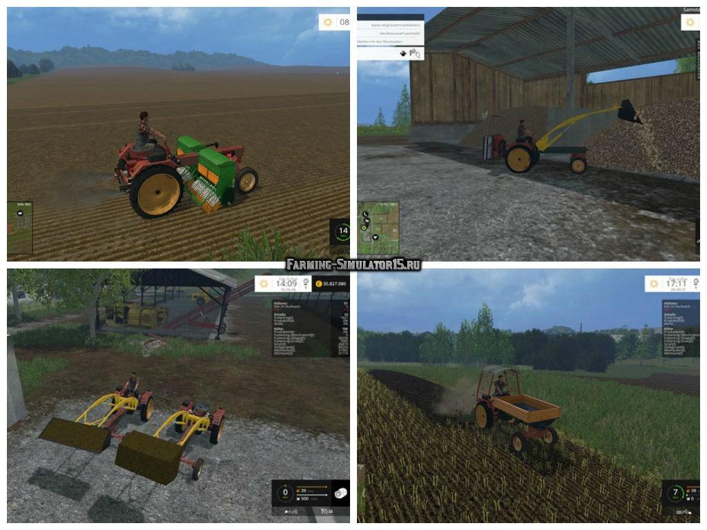 Мод ПАК тракторов Progress GT124 v 1.0 Farming Simulator 2015