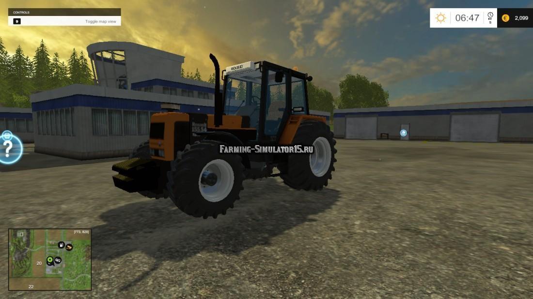 Мод трактор Renault 155.54 v1.1 Farming Simulator 15