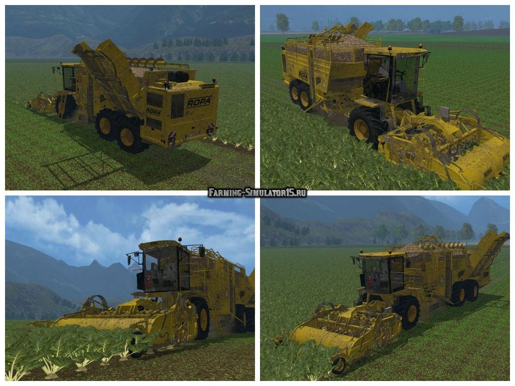 Мод комбайн Ropa Euro Tiger V8 3 v 1.0 Farming Simulator 2015