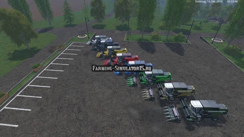 Мод ПАК комбайнов Sampo Rosenlew C6 Pack v 1.1 Farming Simulator 2015