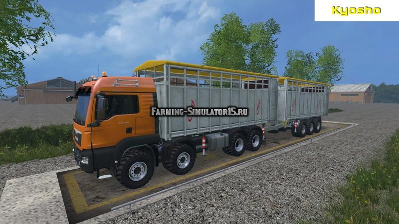 Мод модуль Viehtransport Wechselbruecke v 1.0 Farming Simulator 15