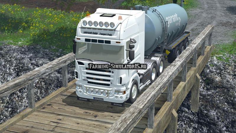Мод грузовик Scania R620 v 1.0 Farming Simulator 2015