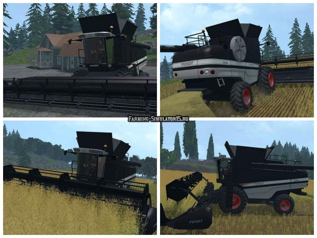 Мод комбайн Fendt 9460 R Black Beauty v 1.0 Farming Simulator 2015
