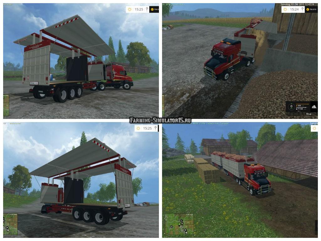 Мод прицеп Flexi SemiTrailer v 1.0 Wsb Farming Simulator 15