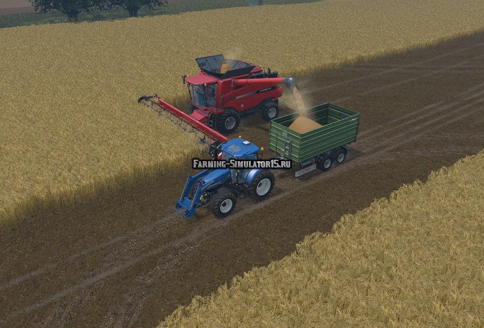 Мод прицеп Fliegl TDK 255 v 1.0 Farming Simulator 2015