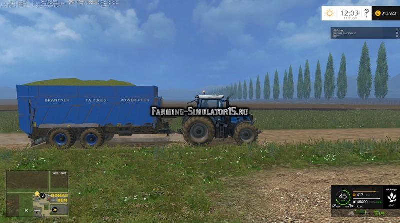 Мод прицеп Brantner TA23065 Power Push v 1.0 Farming Simulator 2015
