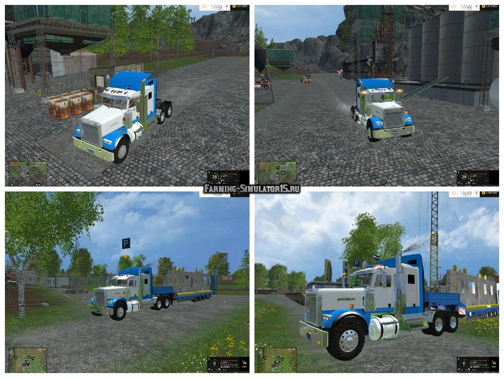 Мод грузовик Freightliner FLD13 v 1.0 Farming Simulator 2015