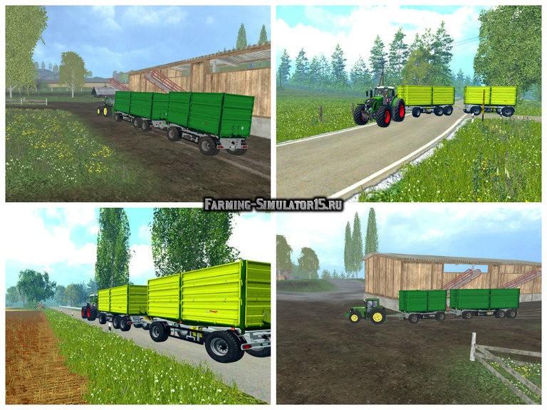 Мод ПАК прицепов Fliegl Pack v 3.0 Farming Simulator 2015