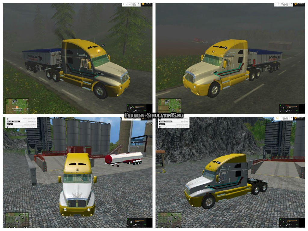 Мод грузовик Kenworth T680 v 1.0 Farming Simulator 2015