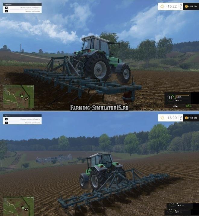 Мод культиватор КПС KPS 8 v 2.0 Фермер Симулятор 2015