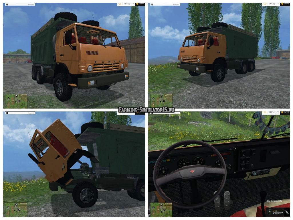Мод грузовик Камаз KamAZ 65115 v 1.0 Фермер Симулятор 2015