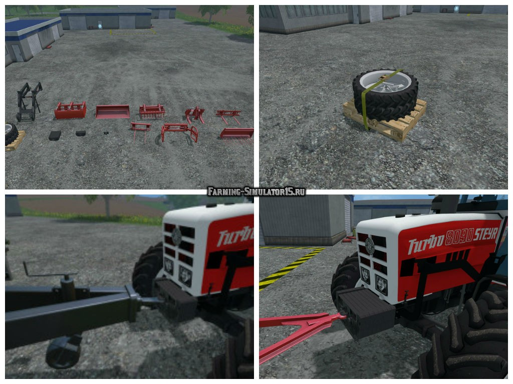 Мод ПАК оборудование Steyr 8090 SK2 Equipment Pack v 1.0 Farming Simulator 15