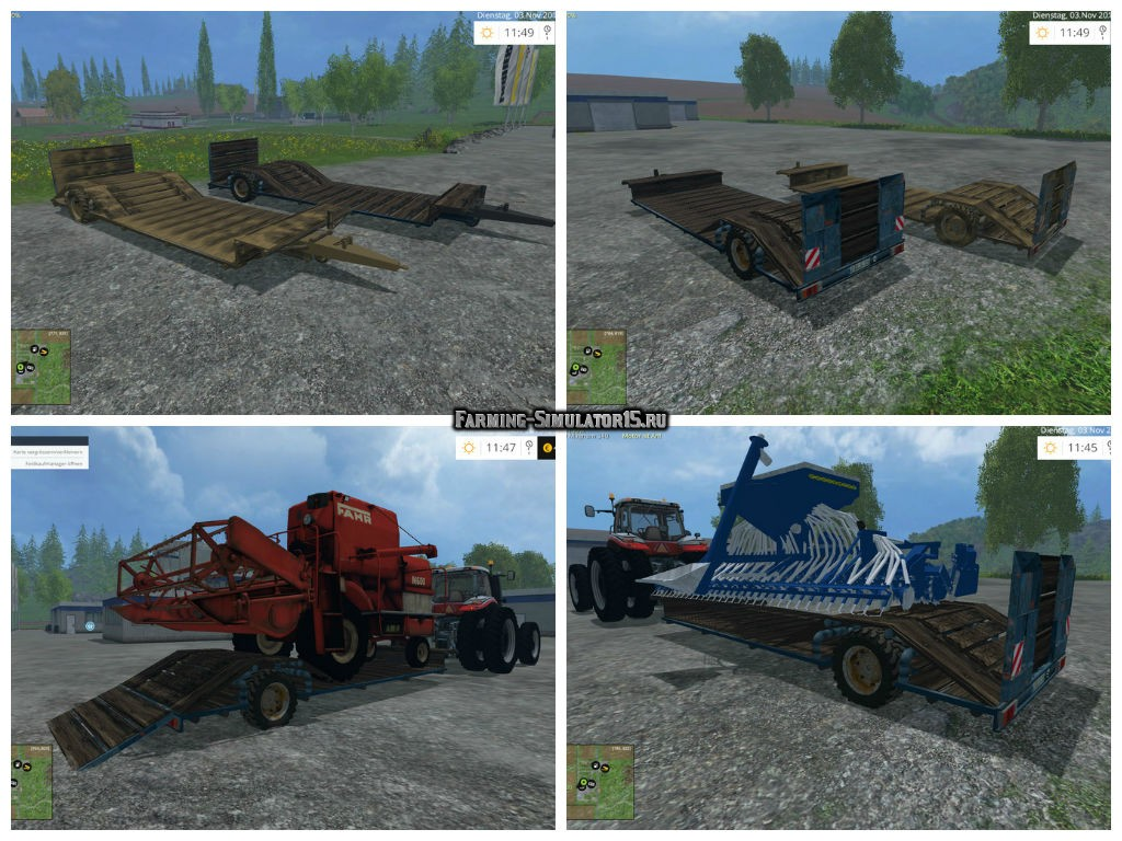 Мод трал UniFlatTrailer v 1.0 Farming Simulator 15