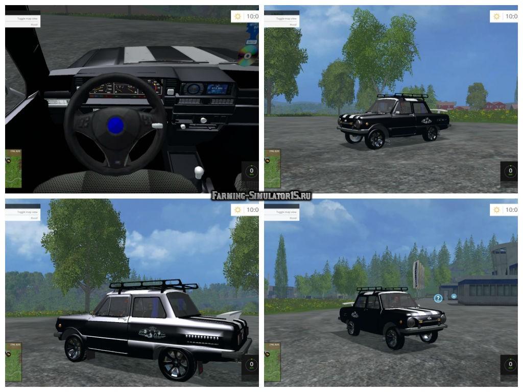 Мод автомобиль ЗАЗ ZAZ 968M Black v 1.0 Фермер Симулятор 2015