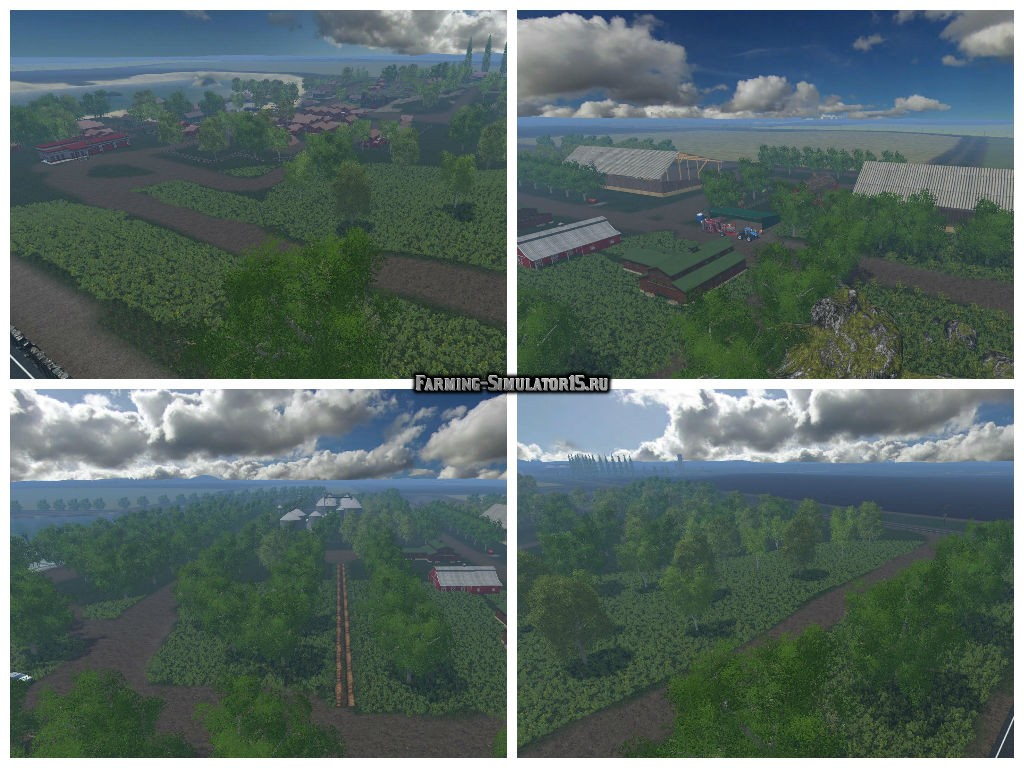 Мод карта BAXLEY V1 Farming Simulator 2015
