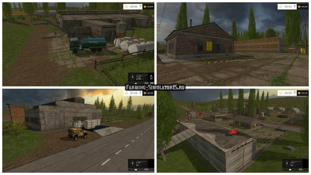Мод Хранилища для Сосновки v3.0 Farming Simulator 15