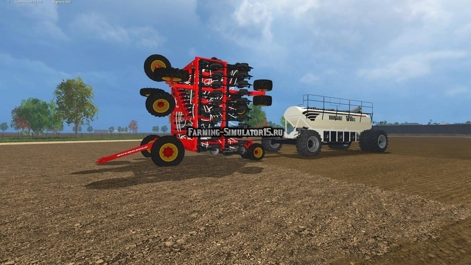 Мод сеялка Bourgault Flexdrill v 1.1 Farming Simulator 15