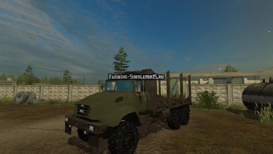 Мод грузовик КРАЗ KRAZ V18.1 Forest v 1.0 Фарминг Симулятор 2015