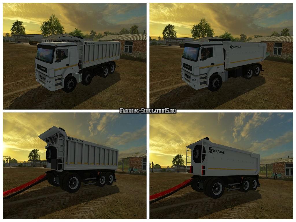 Мод ПАК грузовиков Камаз KamAZ & Trailers Bestlog Pack v 1.0 Фарминг Симулятор 2015