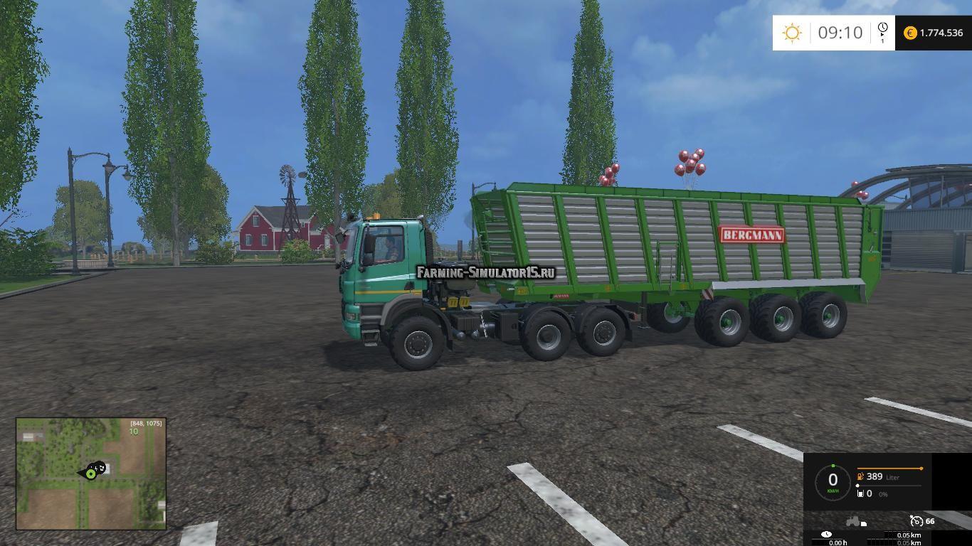 Мод прицеп Bergmann HTW 85 v 1.1 Farming Simulator 2015