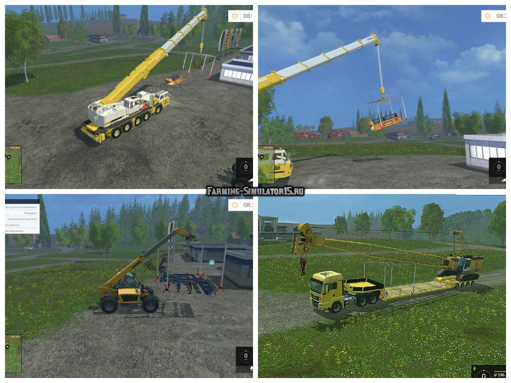 Мод кран Crane lifting frame v 2.0 Farming Simulator 2015