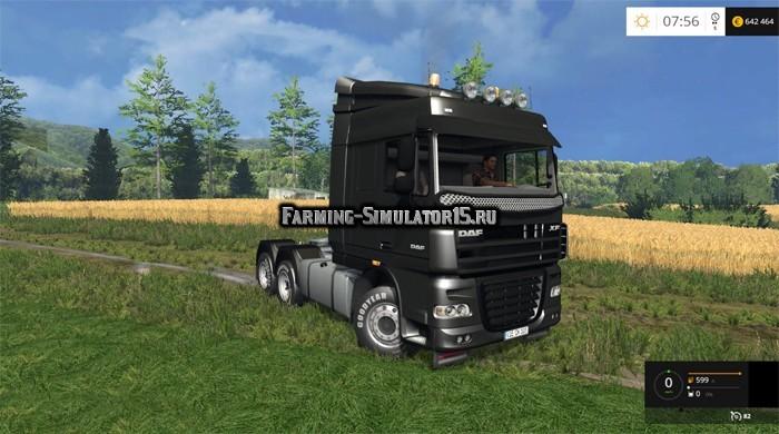 Мод тягач Daf XF 105 v 1.0 Farming Simulator 2015
