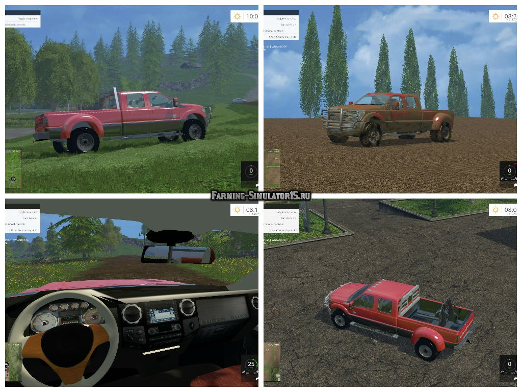 Мод автомобиль Ford F450 Platinum v 9.1 Farming Simulator 2015