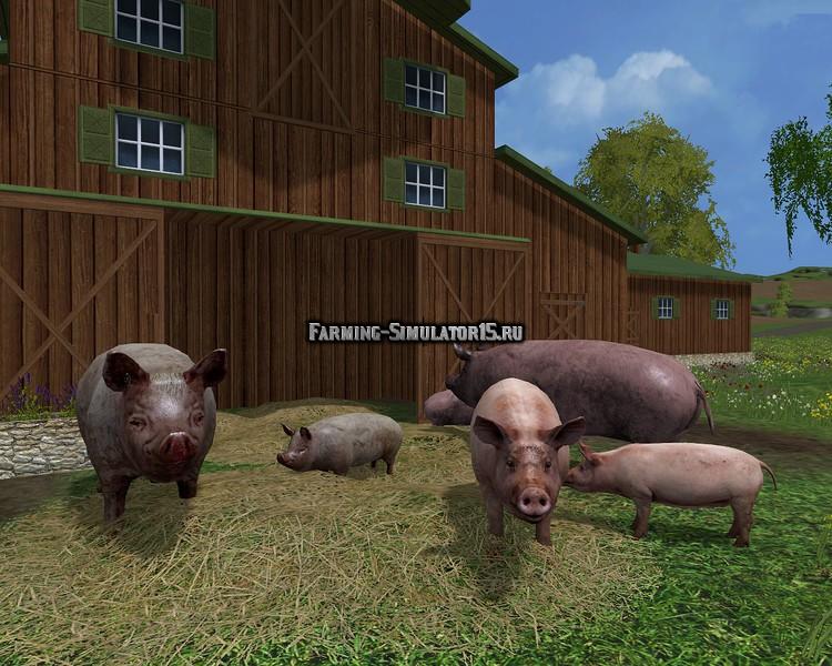 скачать мод для farming simulator 2015 свиней
