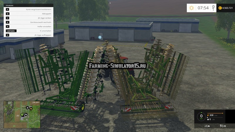 Мод культиватор John Deere 635 v 1.0 Farming Simulator 2015