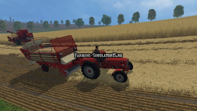 Мод прицеп Krone 2500 Forage Wagon v 1.0 Farming Simulator 15