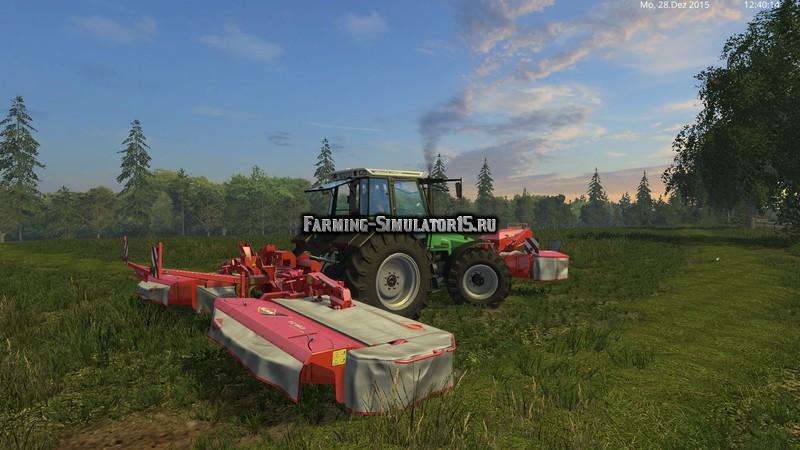 Мод газонокосилки Kuhn FC313F / FC883 v 1.0 Farming Simulator 15