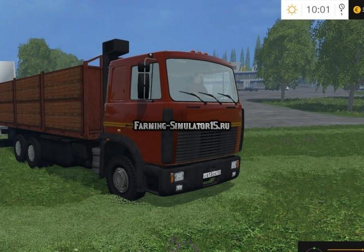Мод грузовик МАЗ MAZ 6303 Фермер Симулятор 2015