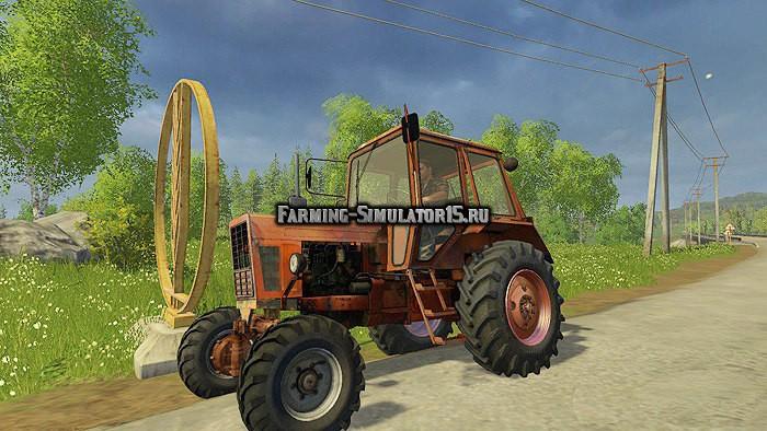 Мод трактор МТЗ Беларус MTZ 82H v1.0 Фарминг Симулятор 2015