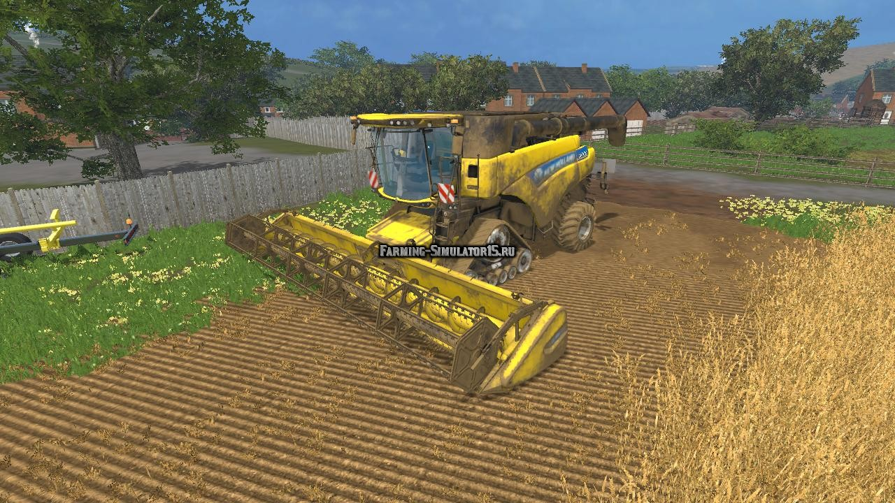 Мод комбайн New Holland CR9090 Smartrax v 1.0 Farming Simulator 15