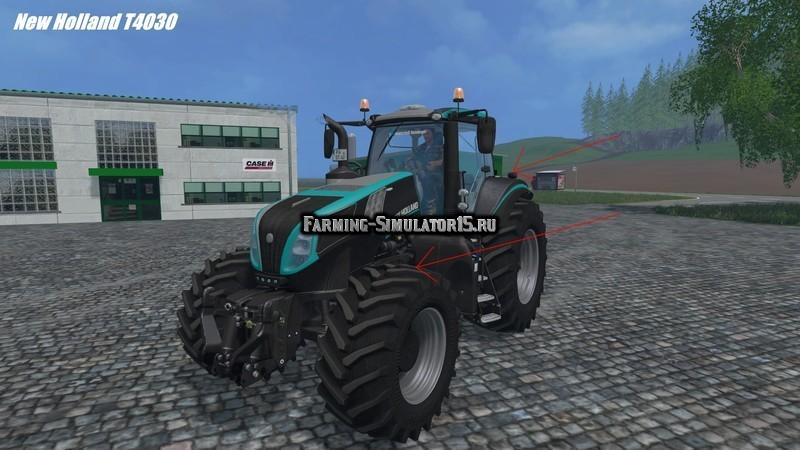 Мод трактор New Holland T8.435 Autocommand Erntetechnik Steinberger v 1.0 Farming Simulator 15