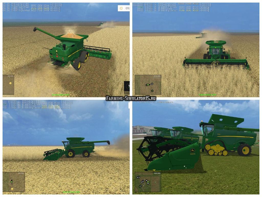 Мод ПАК комбайнов John Deere S680 PACK V1.0 Farming Simulator 15
