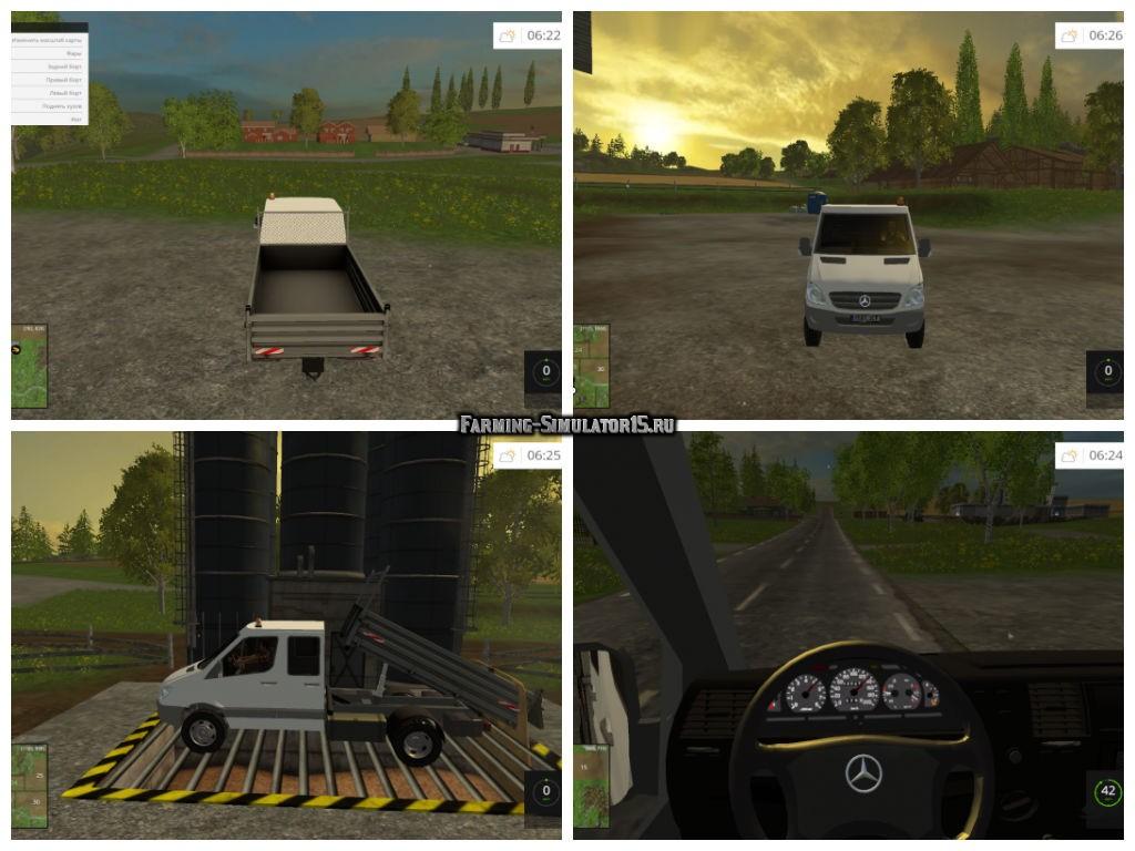 Мод грузовик Mercedes-Benz Sprinter Farming Simulator 2015