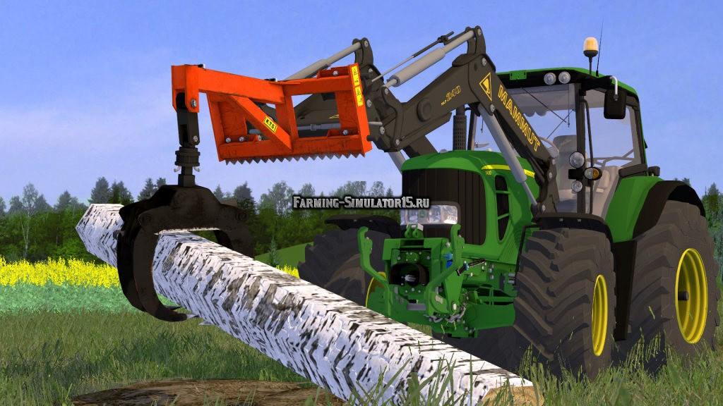 Мод захват для бревен Wood Claw v 1.2 Farming Simulator 2015