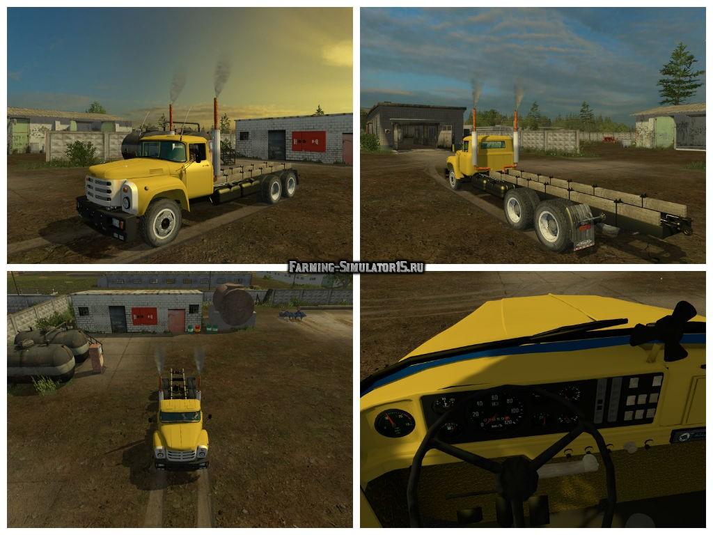 Мод грузовик ЗиЛ 133 ZiL v2.0 Фермер Симулятор 2015