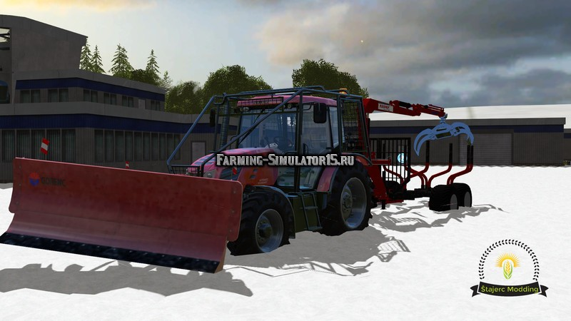 Мод прицеп Forestry Trailer Krpan v 1.0 Farming Simulator 2015
