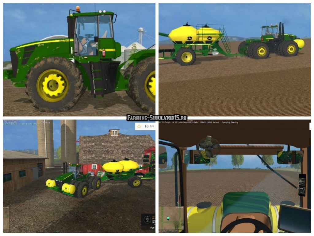 Мод трактор John Deere 9630 Selectable Wheels v4.0 Farming Simulator 15