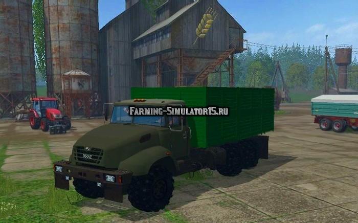 Мод грузовик КРАЗ KRAZ V18 Bort V2.0 Фермер Симулятор 2015